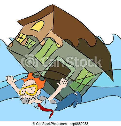 House Sinking - csp6689088