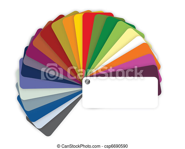 Illustration of a color guide  - csp6690590