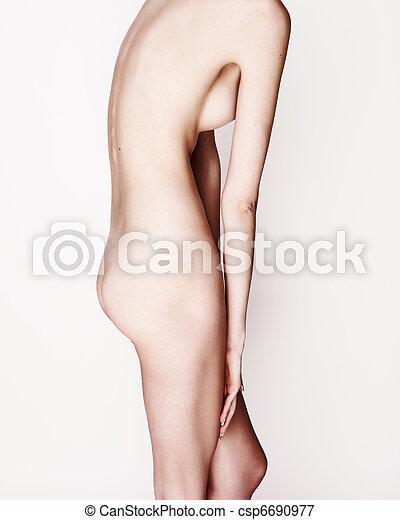 maigre, femme, nue - csp6690977