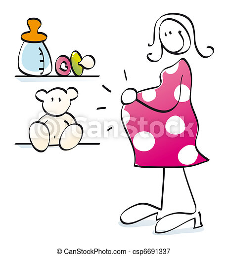 Expecting A Baby Clipart Stock Illustrat...
