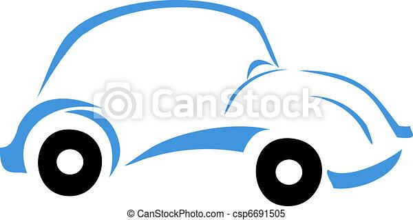vecteur clipart de bleu voiture logo voiture graphique conception csp6691505. Black Bedroom Furniture Sets. Home Design Ideas