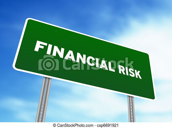 Financial Risk Highway Sign - csp6691921