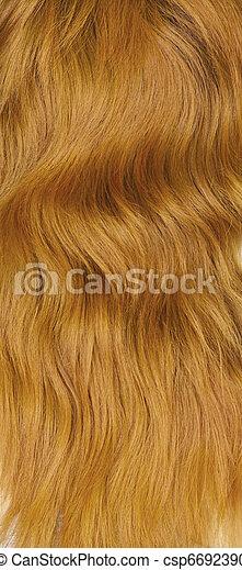 Texture. Female red hair
