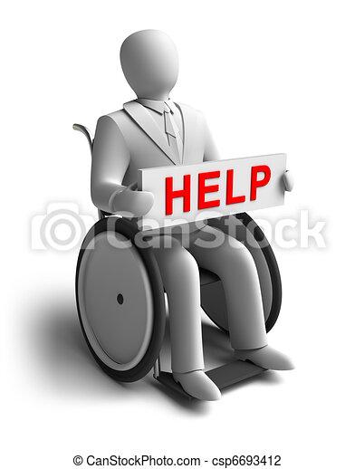 Whieman asks for help - csp6693412