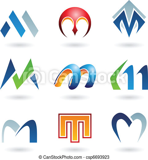Abstract icons for letter M - csp6693923