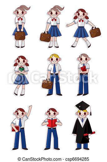 cartoon student icon  - csp6694285