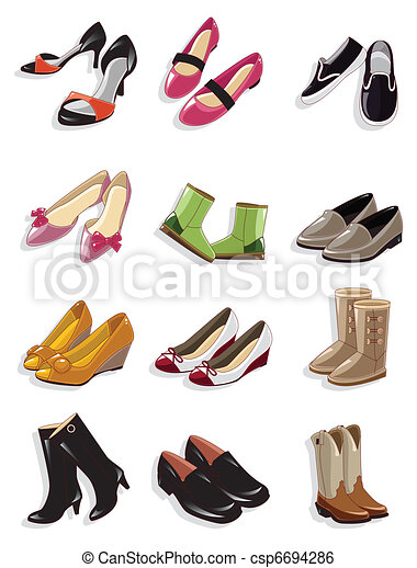 cartoon shoes icon  - csp6694286