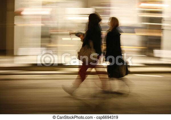 Speedy girls. - csp6694319