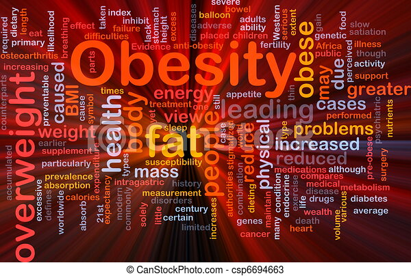 Obesity fat background concept glowing - csp6694663