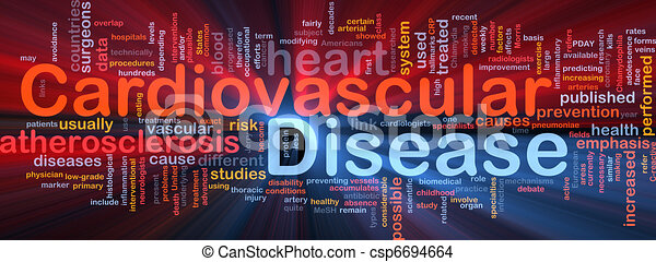 Cardiovascular disease background concept glowing - csp6694664