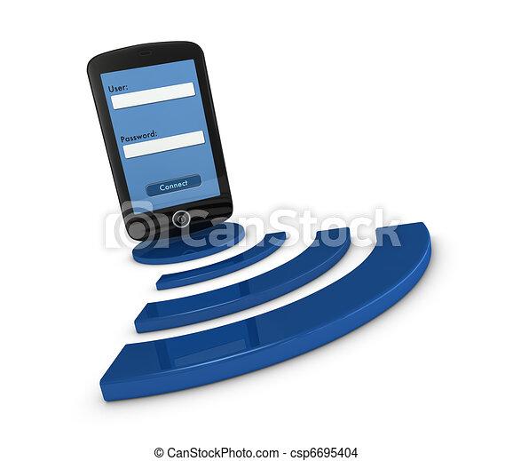 smartphone wifi access - csp6695404