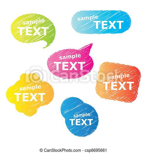 speech-bubble - csp6695661