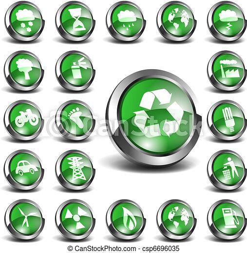3D Environmental Icons Big Set - csp6696035