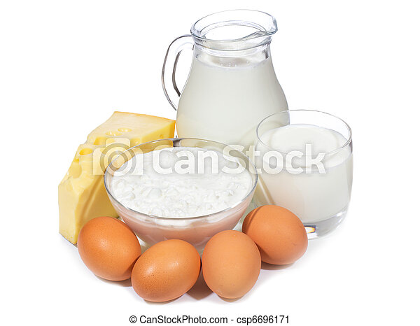 dairy products and eggs - csp6696171