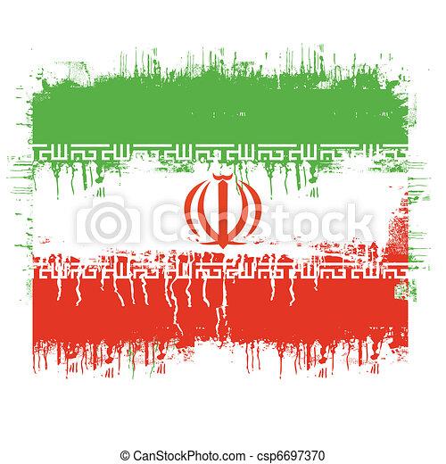 flag of iran - csp6697370