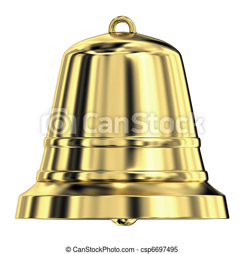 Shiny golden bell, frontal view - csp6697495