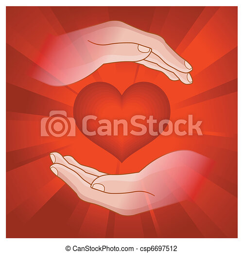 heart in human hand - csp6697512