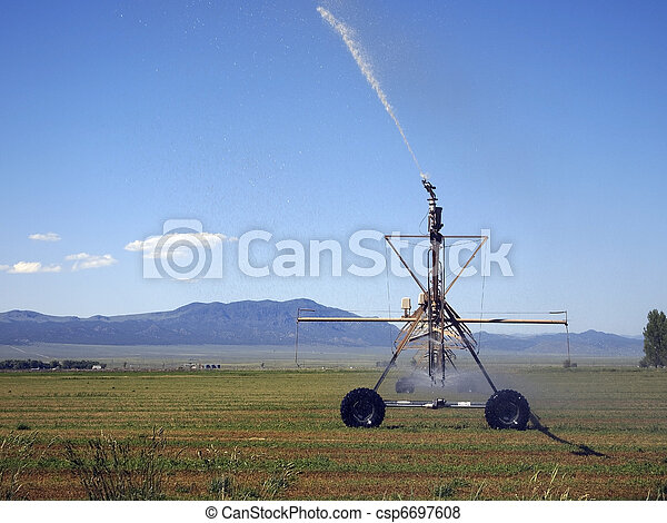 Pivot Irrigation - csp6697608
