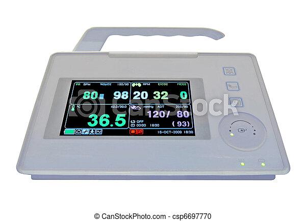 new colorful cardiovascular portable monitor, doppler display, i - csp6697770