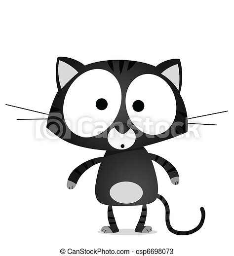 Lucky black cat  - csp6698073
