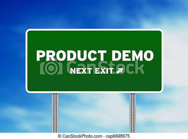 Product Demo Highway Sign - csp6698975