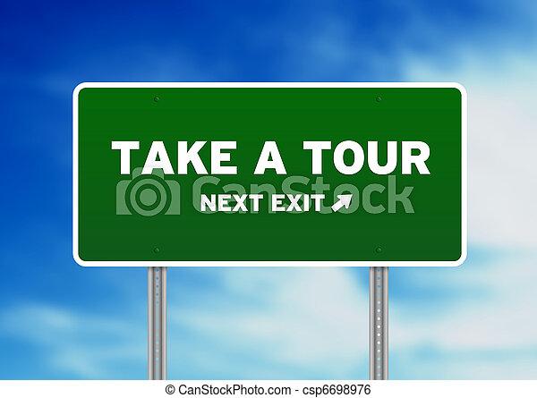 Take a Tour Highway Sign - csp6698976