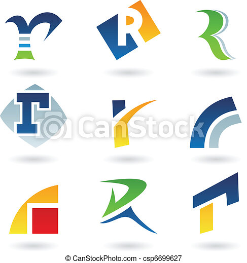 Abstract icons for letter R - csp6699627