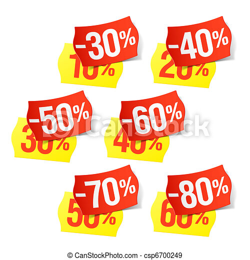 Even more discounts - price tags - csp6700249