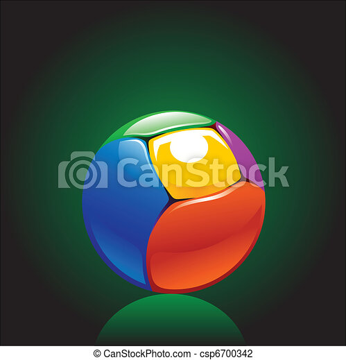 colorful chrome ball  - csp6700342
