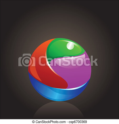 colorful chrome ball logo - csp6700369