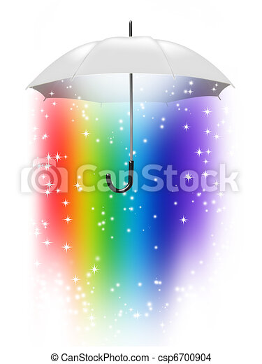 rainbow umbrella - csp6700904