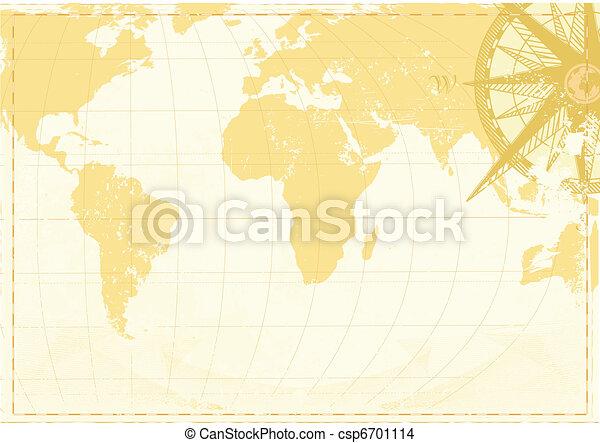 Vintage word map  - csp6701114