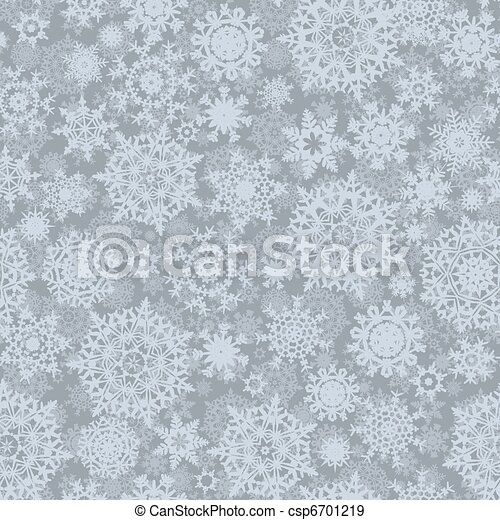Abstract seamless snowflake pattern. EPS 8 - csp6701219