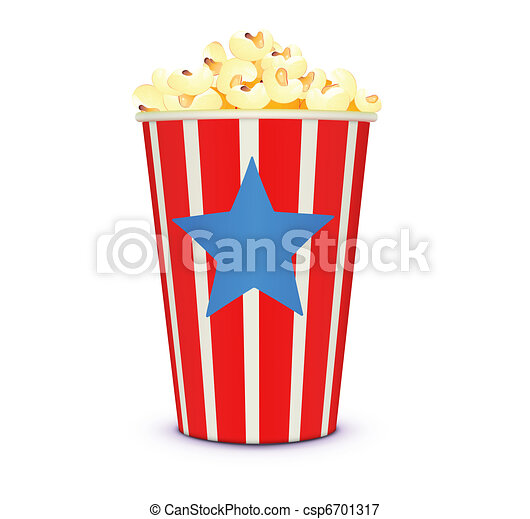 classic cinema-style popcorn  - csp6701317