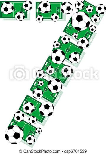 eps vector van zeven  gelul  velden  getal  7  voetbal football field clip art free football field clip art free images