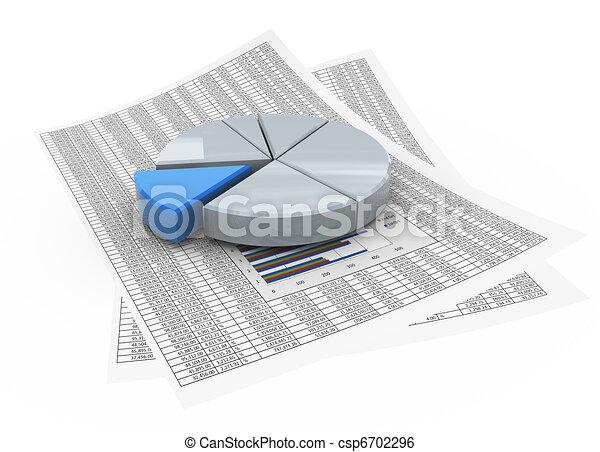 stock illustration von 3d torte tabelle auf finanziell papier 3d csp6702296 suchen. Black Bedroom Furniture Sets. Home Design Ideas