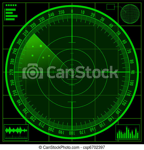 Radar screen - csp6702397