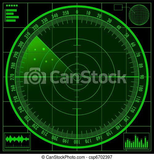 Radar screen - csp6702397