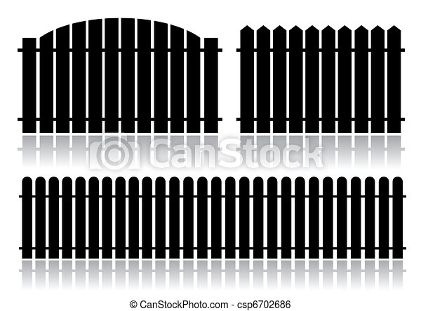 Black fence isolated on white - csp6702686