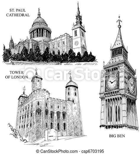 London architectural symbols - csp6703195