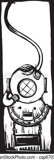 Diving Helmet - csp6703779