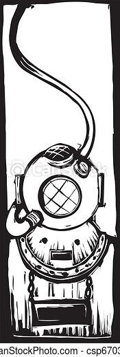 Diving Helmet - csp6703779