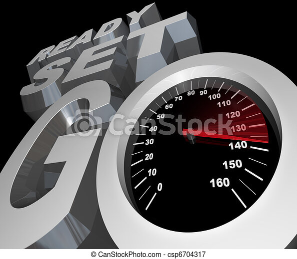 Ready Set Go Speedometer Starting Race Competition - csp6704317