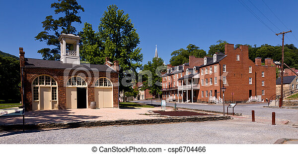 Main street of Harpers Ferry a national park - csp6704466