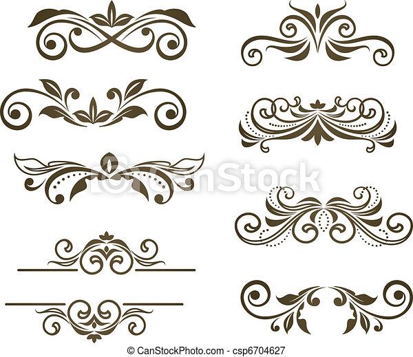 Vintage floral motifs - csp6704627