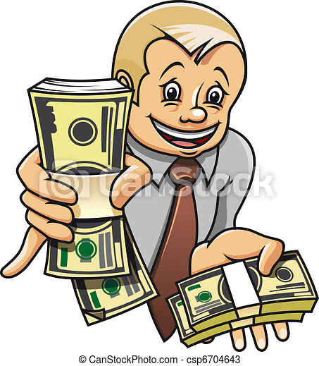 Businessman with money - csp6704643