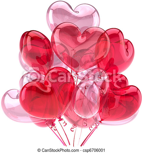 Pink party balloons Love decoration - csp6706001