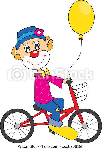 Clown bicycle. - csp6706298