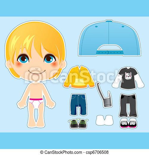 Blond Fashion Boy - csp6706508