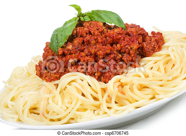 pasta with meat sauce - csp6706745